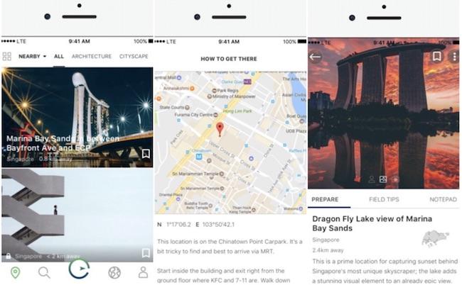 app explorest trova luoghi per fotografi