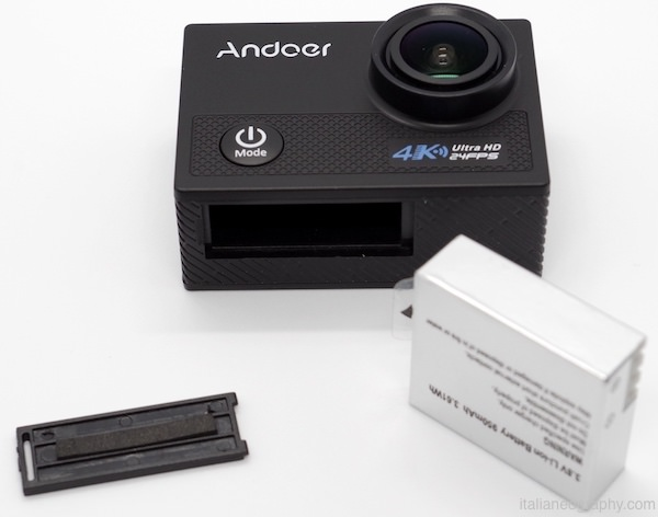 batteria action cam andoer an5000