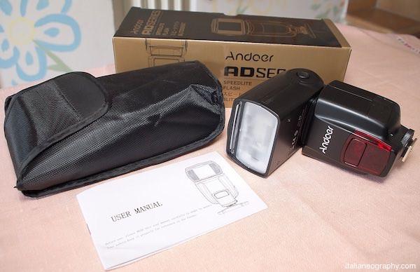 confezione Flash andoer Ad560 IV