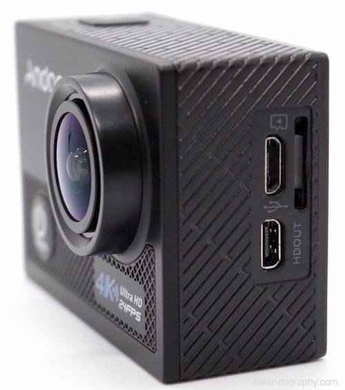 porte input output action cam andoer an5000