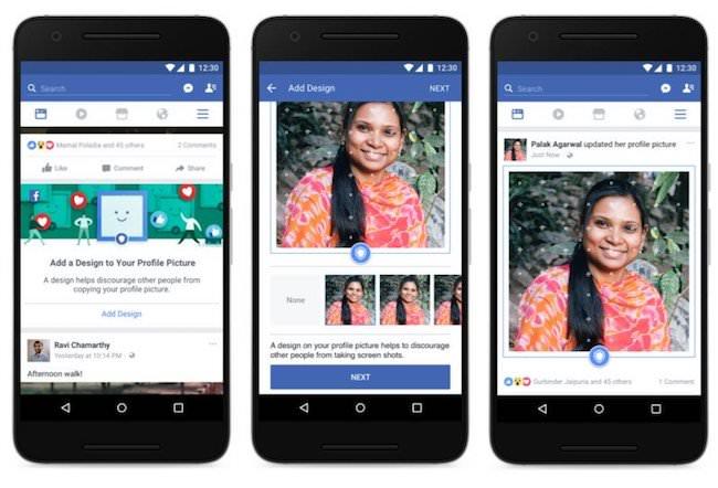 protezione foto profilo facebook