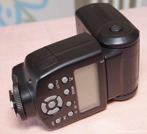 pulsanti funzionamento flash andoer ad560 iv