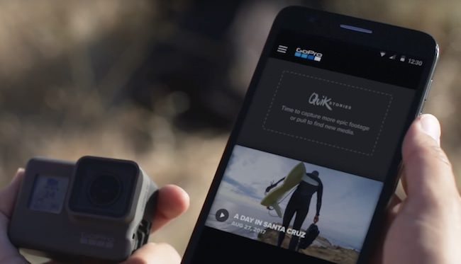 quickstories goPro per fare video automatici