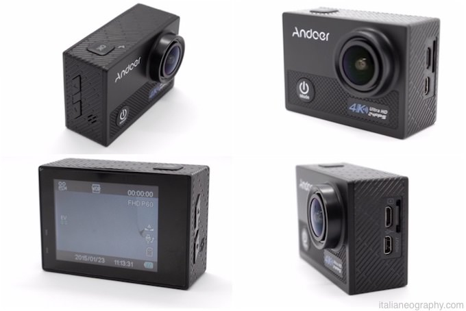 recensione andoer an5000 action cam caratteristiche