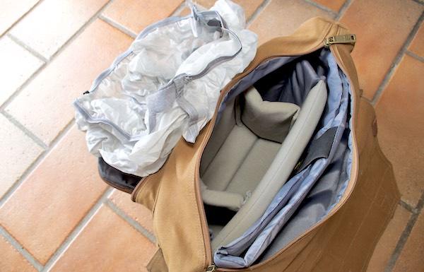 sacca copertura pioggia borsa tracolla messenger evecase