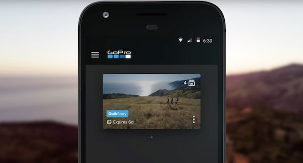 salvare video gopro quickstories