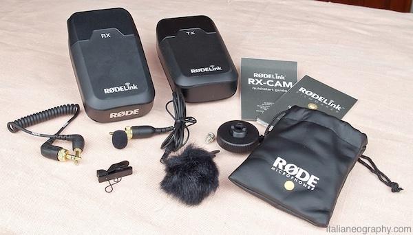 contenuto confezione rodelink filmmaker kit microfono wireless
