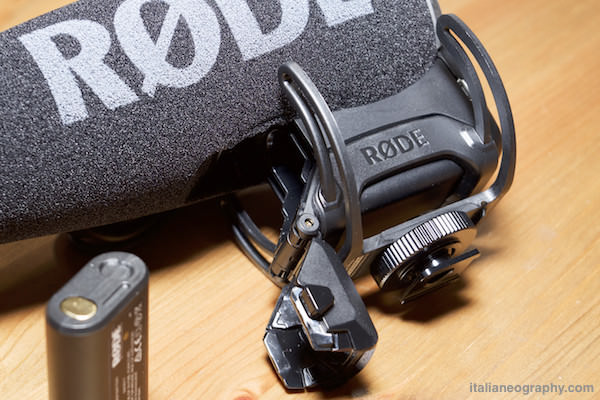 Vano batteria microfono rode videomic pro plus