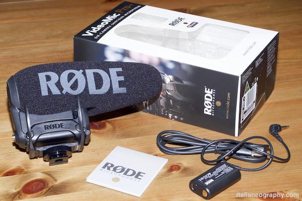 contenuto confezione microfono rode VideoMic pro plus