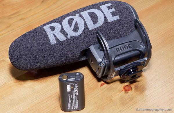 microfono Rode VideoMic pro plus batteria litio