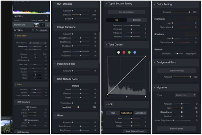 strumenti Aurora HDR 2018