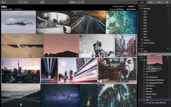 Luminar 3 librerie foto catalogo