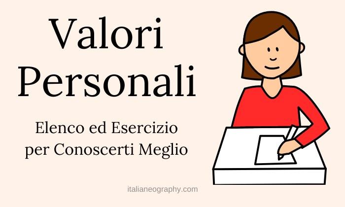 Lista Elenco Valori Personali