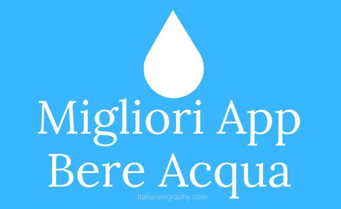 Migliori App Bere Acqua
