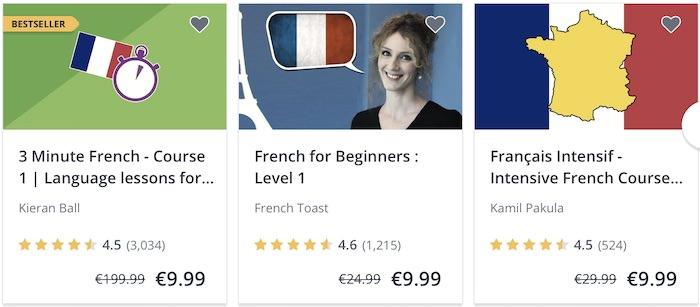 Udemy corsi online francese